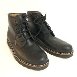 Roots Low Tribe Lace Up Boot Black Leather 9.5